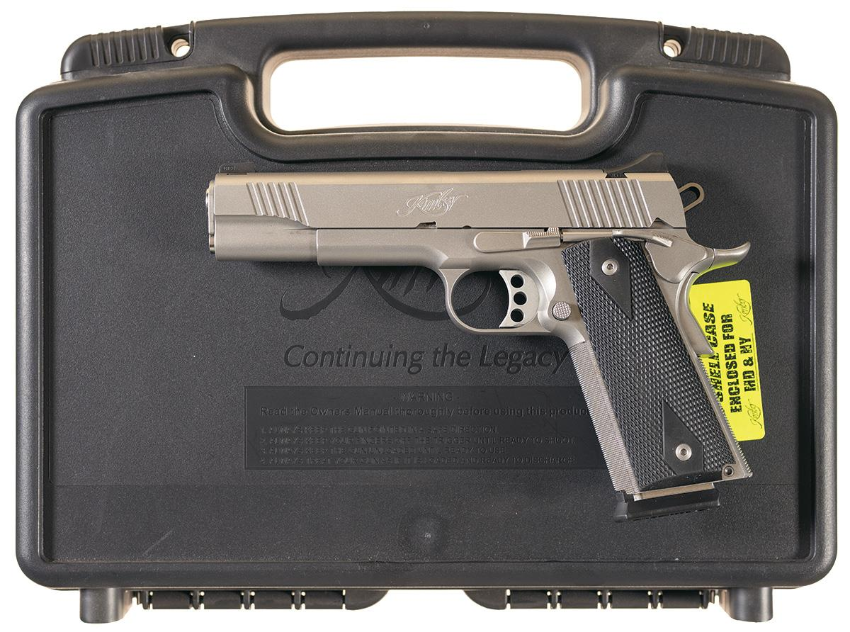 Kimber Stainless TLE II 1911 Semi-Automatic Pistol with Case