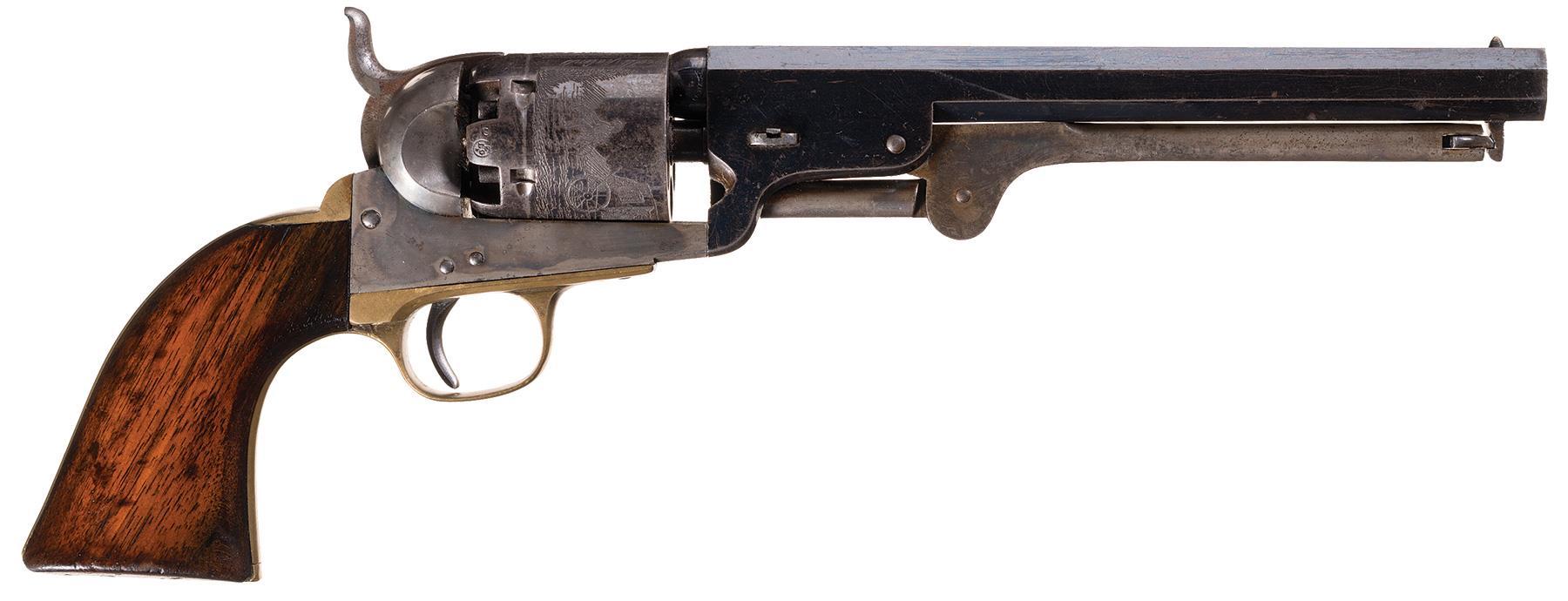 Fine Belgian Colt Brevete Model 1851 Navy Percussion Revolver