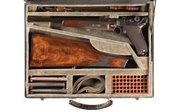 DWM Model 1920 Commercial Luger Carbine Rig with Magazines