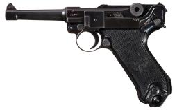 Mauser byf Code 1941 Date Luger with Holster and Extra Magazine
