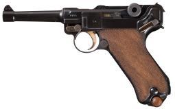 1915 DWM Military Luger, w/Holster & Matching Magazine