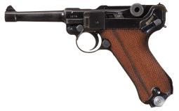 Mauser 1937 S/42 Police Safety Luger Pistol, Holster, Ex Mag.