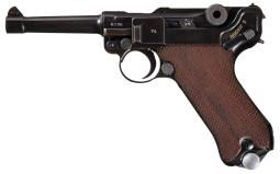 Mauser S/42 1938 P.08 Luger with Two Matching Magazines