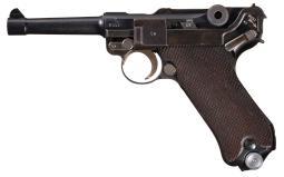 Dutch Contract 1939 Mauser Luger Pistol