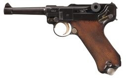 Mauser 1936 S/42 Luger Pistol with Matching Magazine