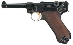 DWM/Mauser 1933 Nazi Sneak Luger Semi-Automatic Pistol