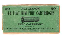 Box of Winchester .44 Flat Rimfire Cartridges