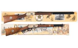 Two Winchester Law Enforcement Commemorative Lever Actions