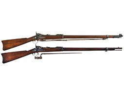 Two U.S. Springfield Trapdoor Rifles with Bayonets