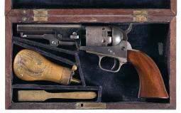 Cased Colt Model 1849 Percussion Revolver