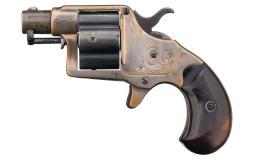 Factory Engraved Rare Short Barrel Colt Cloverleaf Revolver