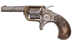 Factory Engraved Colt New Line 22 Revolver with DeGress Grip