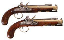 Pair of Twigg Flintlock Blunderbuss Pistols