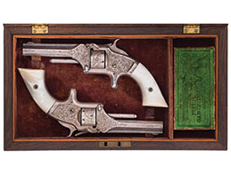 Cased Pair of New York Engraved Smith & Wesson Model Number One