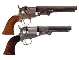 Two Colt 1849 Pocket Revolvers