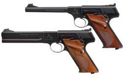 Two Colt Woodsman Semi-Automatic Target Pistols