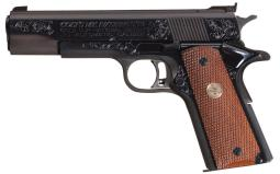 D. Goodwin Signed Engraved Colt Gold Cup National Match Pistol