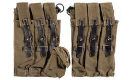 Nazi Type III MP38/40 Dual Pouch Mag Carrier Set