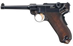 DWM 1900 Pistol 7.65 mm Luger Auto