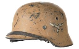 1940 Luftwaffe Single-Decal Tunisia Style Camouflage Helmet