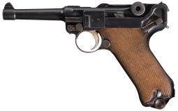 1917 Dated Erfurt Military Luger w/Holster and Extra Magazine