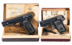 Collector's Lot of Two Colt Semi-Automatic Pistols with Boxes