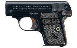 Excellent Colt Model 1908 Vest Pocket Semi-Automatic Pistol