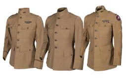 Three U.S. WWI Aviation Officer Tunics