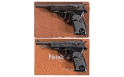 Two Boxed Walther P38 Semi-Automatic Pistols
