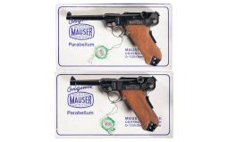 Matching Numbered Set of Two Commemorative Mauser