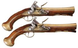 Pair of Richard Wilson Flintlock Blunderbuss Pistols