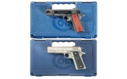 Two Colt Government Model Semi-Automatic Pistols with Cases