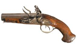 Laurent Gilles Double Barrel Flintlock Pistol
