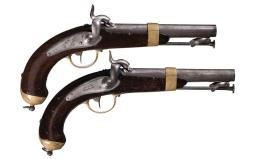 Pair of French Model 1837 Percussion Pistols