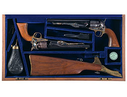 Matched Cased Pair of Colt Model 1860 Army US Cavalry Revolvers