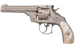 Engraved Smith & Wesson 44 Double Action First Model Revolver