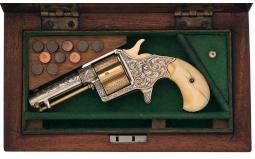 Cased Factory Engraved Colt Cloverleaf House Model Revolver