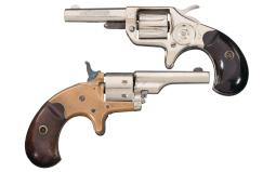 Two Antique Colt Spur Trigger Pocket Revolvers