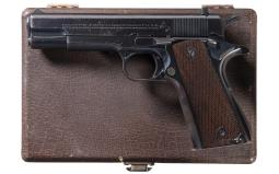 1936 Colt Ace Pistol with Case and Factory Letter
