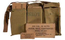 600 Rounds of Model 1918 .30 Auto Pistol Ball Cartridges