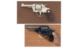 Collector's Lot of Two Colt Double Action Revolvers with Boxes