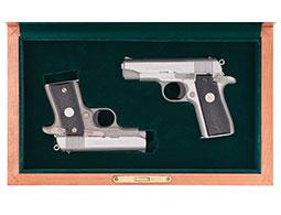 Two Colt .380 Auto Semi-Automatic Pistols with Cases