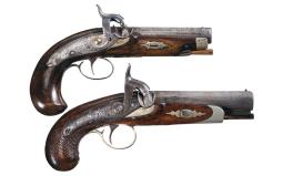 Collector's Lot of Two Percussion Pocket Pistols