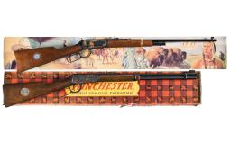 Two Boxed Winchester Commemorative Lever Action Carbines
