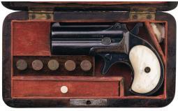 Cased Remington Over/Under Derringer with Pearl Grips Ammunition