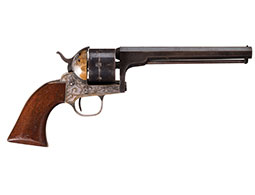 Engraved Moore's Patent Firearms Single Action Belt Revolver