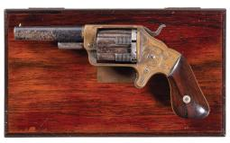 Cased Brooklyn Arms Separated Chambered Pocket Revolver