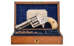 Colt London Retailer Cased Factory Engraved Cloverleaf Revolver