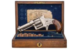 London Retailer Cased Factory Engraved Colt Cloverleaf Revolver