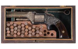 Cased New York Engraved Smith & Wesson Model 1 1/2 Revolver